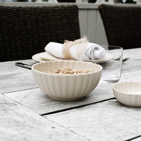 Schale, Dessertschale, Esschale Flora, beige - Steingut