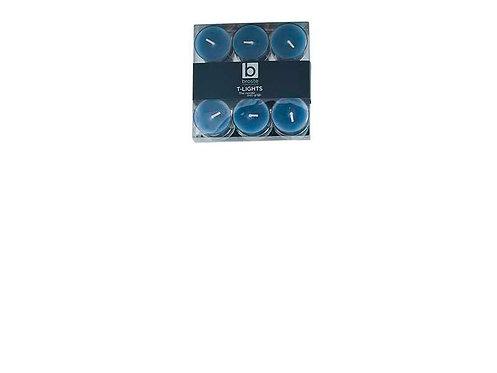 Teelicht - 9 Stück - blau