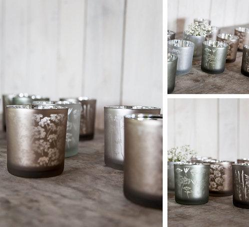 Glas, Windlicht Storefactory Lindfors, rosa