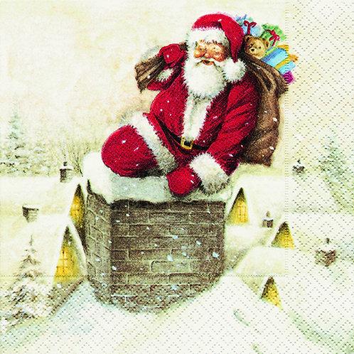 Serviette Weihnachtsmann - 20 Stück