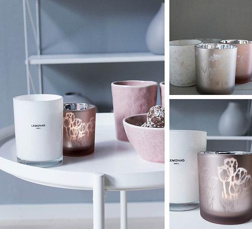 Glas, Windlicht Storefactory Sunnansjö, rosa