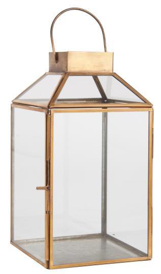 Kleine Laterne Norr, gold, Gartenlaterne, mit Glastop