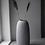 Thumbnail: Keramikvase Aby, hoch, hellgrau