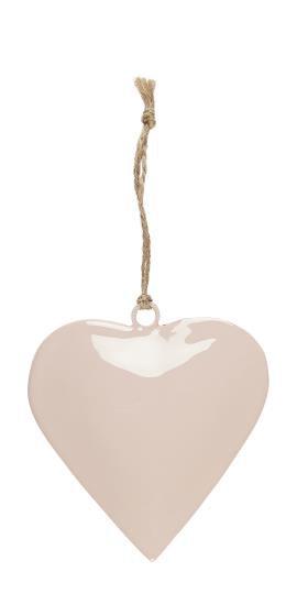 Deko Herz, rosa, klein, zum anhängen, mit Juteschnur