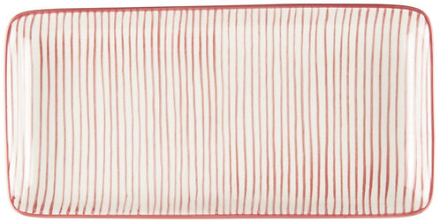 Tablett Casablanca, rote Streifen