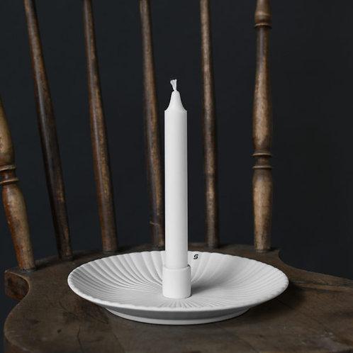 Kerzenleuchter Keramik, Kerzenteller, Holmby, weiss, groß
