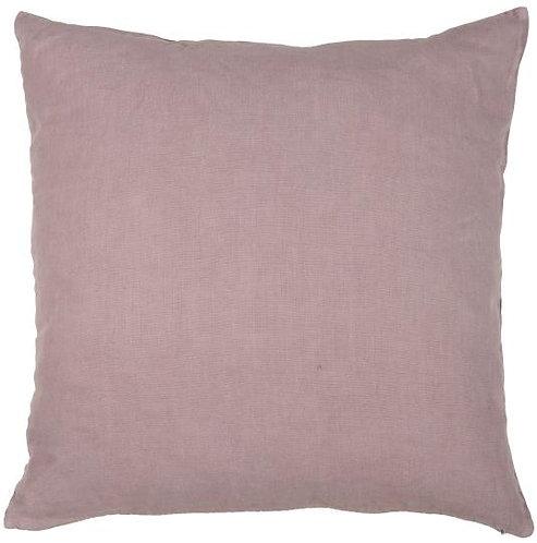 Kissen aus Leinen in lila / malve