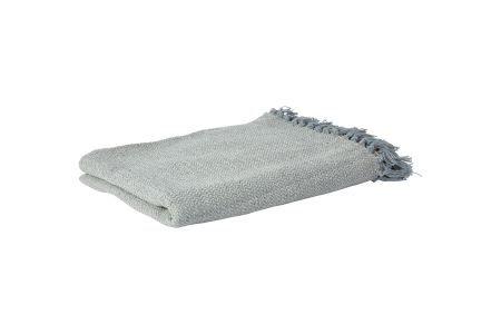 Decke aus Baumwolle in hellblau
