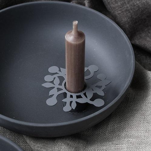 Kerzenring, Kerzenmanschette, Kerzendeko: Ljusdala Kranz, grau