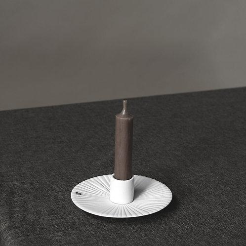 Kerzenleuchter Keramik, Kerzenteller, Holmby, weiss