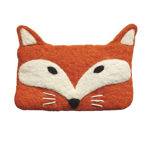 Geldbörse / Tasche Fox aus gefilzter Wolle