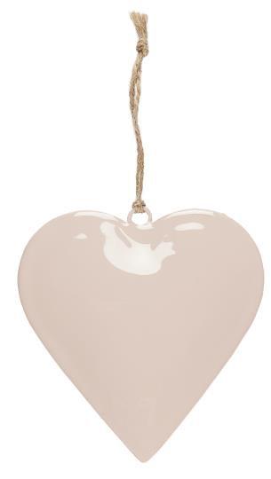 Deko Herz, rosa, groß, zum anhängen, mit Juteschnur
