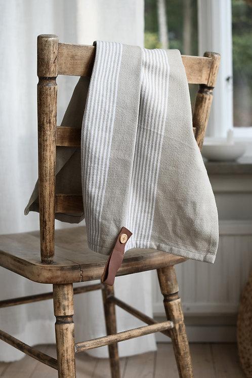 Geschirrtuch Utveda, beige, weiße Streifen, Storefactory