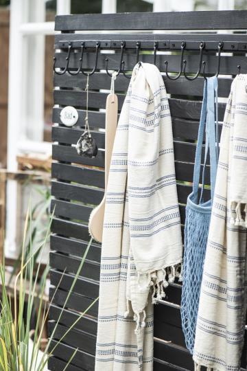 Hamam Handtuch mit blauem Muster