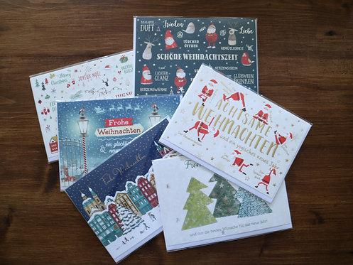 Angebot: 10er Set Weihnachtskarten - modern