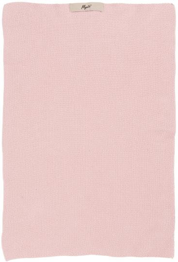 rosa Geschirrhandtuch, gestrickt