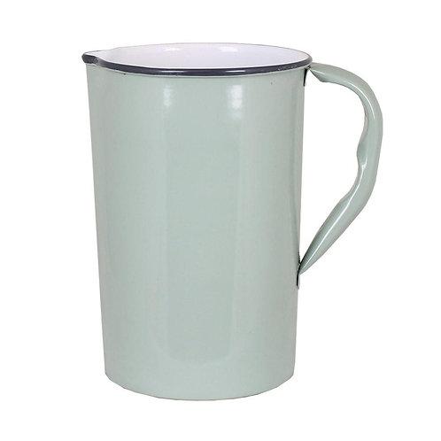 Krug, Kanne, Vase, Metall hell grün - Olle gross