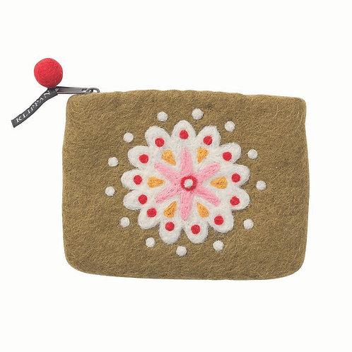 Geldbörse / Tasche Louise aus gefilzter Wolle