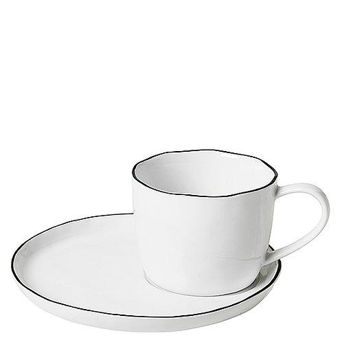 """Geschirr broste """"Salt"""" - Tasse mit Untertasse gross"""