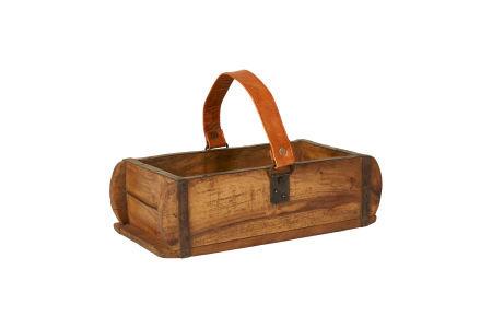 Ziegelform aus Holz, Unika einfach, mit Lederriemen