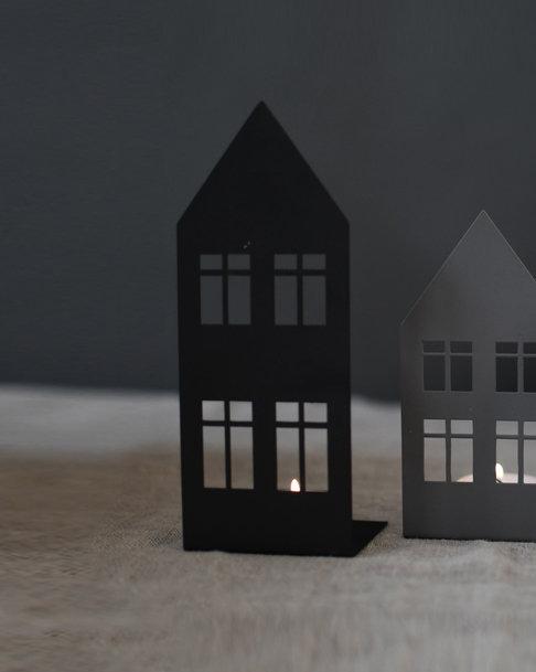 Storgatan, schwarz, groß, Teelichthalter, Kerzenhalter