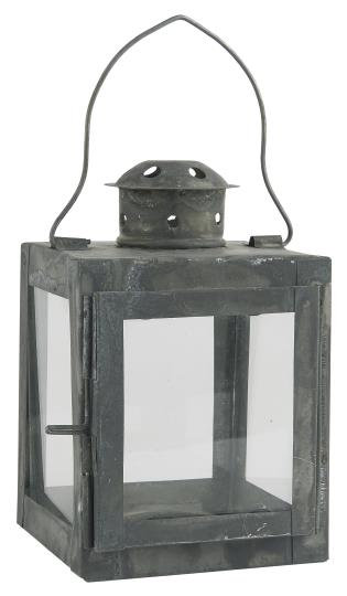 Laterne für Teelichter, Gartenlaterne, mit Glas, schwarz