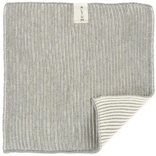 Waschlappen Altum aus Baumwolle, grau