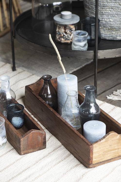 Stumpenkerze, Kerze, rustikale Kerze, 7cm hoch, hellblau