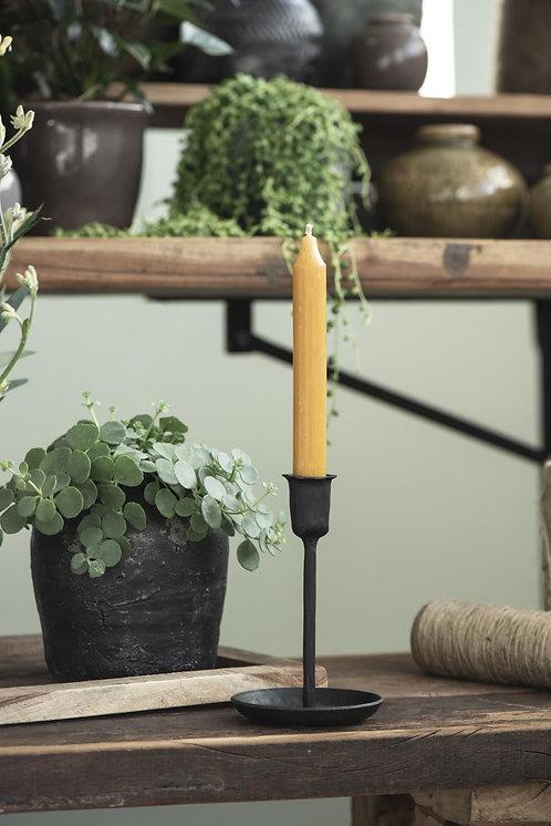 10er Set Kerzen, 18cm, rustikale Kerze, curry farben