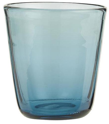 Glas, Trinkglas, blau