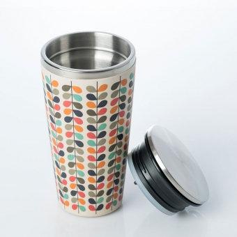 Thermosbecher / Kaffeebecher - Motiv Retro Blätter
