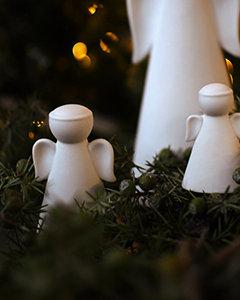 Deko Engel, Saga, weiß, mittel, Weihnachtsengel