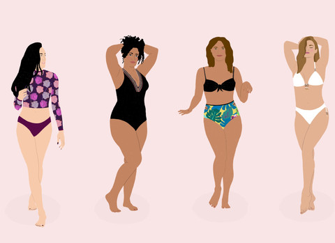 Swimwear Illustration Campaign