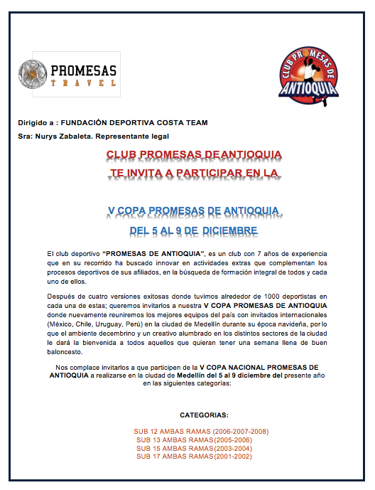 Invitacion torneo diciembre