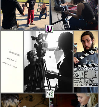 """A mirage of photos taken during the production for my short film titled """"Dissociated""""."""