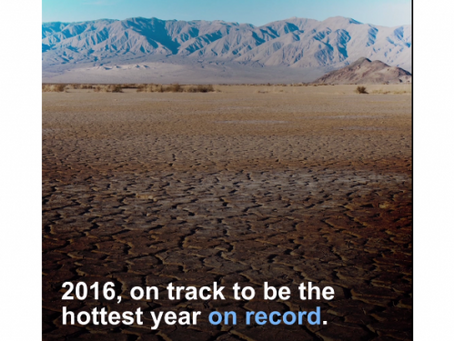 Το 2016 είναι το θερμότερο έτος που έχει καταγραφεί ως τώρα