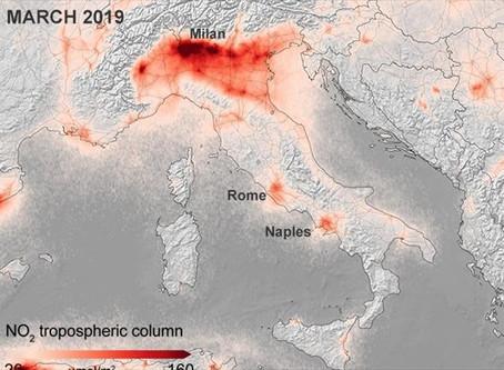 Θεαματική μείωση ρύπανσης σε Ιταλία, Γαλλία & Ισπανία πριν και μετά τον κορωνοϊό (Χάρτες)