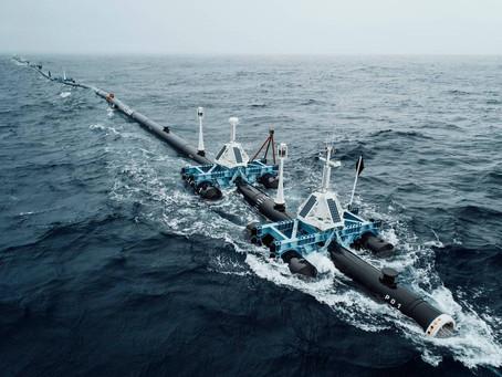 Wilson, ο πλωτός σωλήνας που καθαρίζει τον Ειρηνικό από το πλαστικό