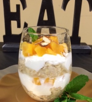 Just Peachy Oatmeal and Yogurt Parfait