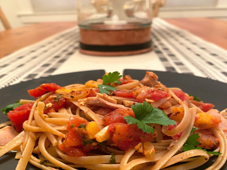 Pantry Pasta with Tuna and Tomatoes