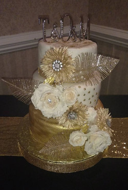 Great Gatspy Wedding Cake 1