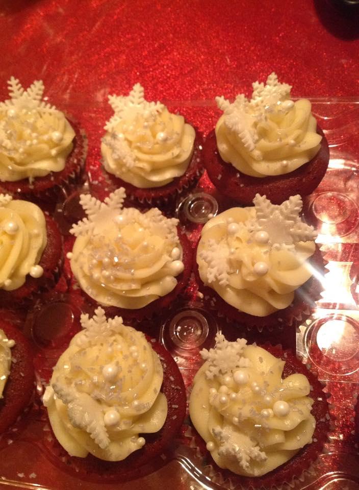 Snowfalke Cupcakes