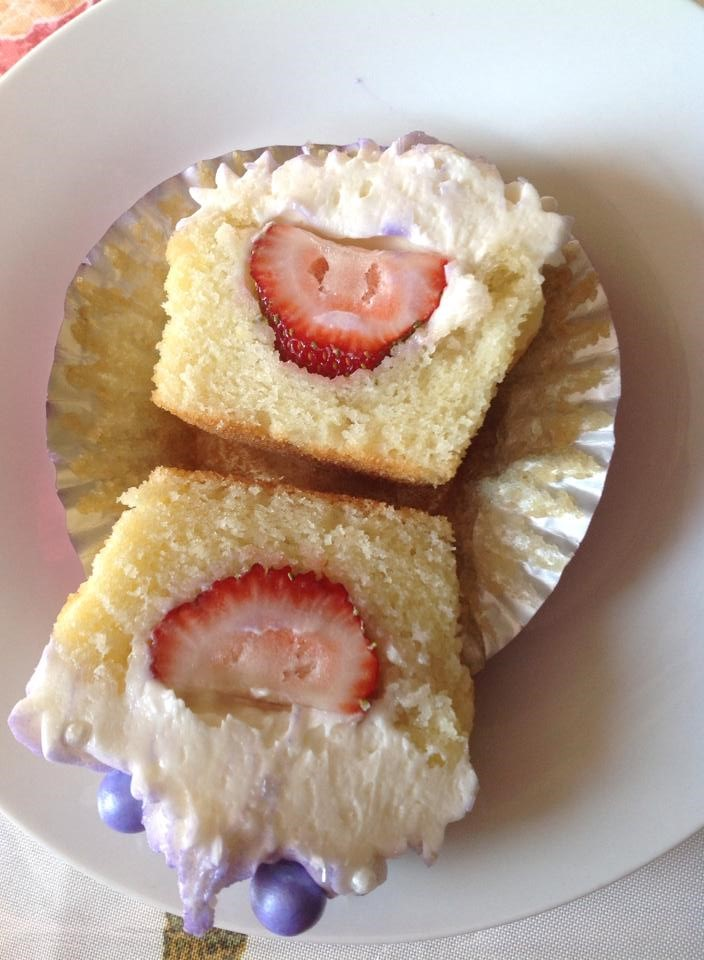 Strawberry Filled Cupcake