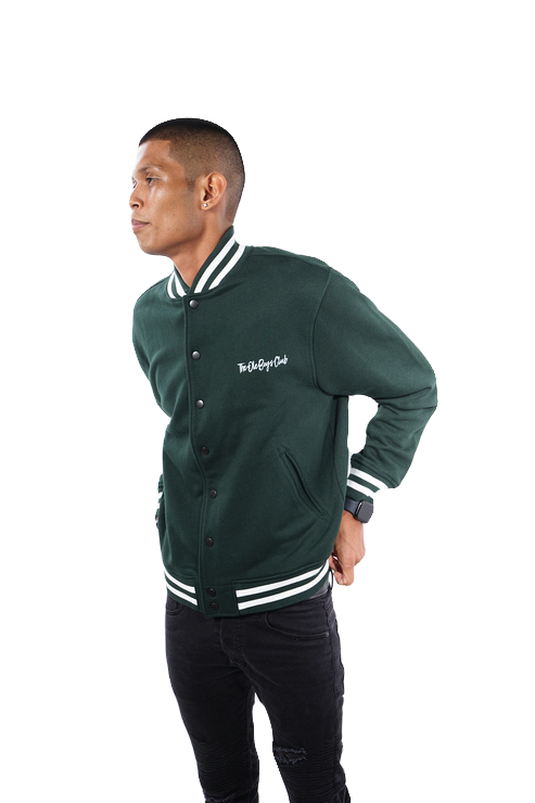 The Master Class Green Lightweight Varsity Jacket