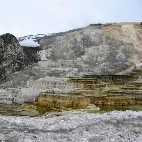 Mammoth Hot Springs, Yellowstone National Park, America
