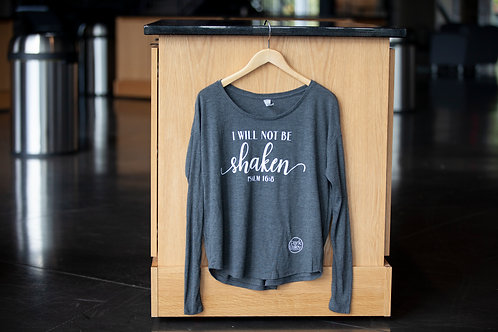 I will not be shaken Long sleeved T (XL)