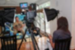 Eric Soderholm and Julia Rose filming gratitude