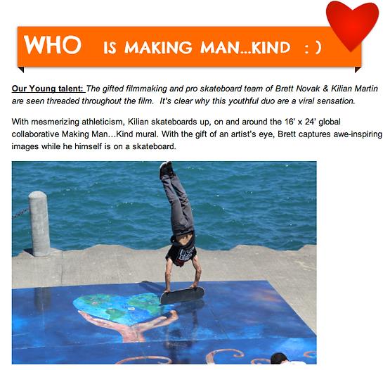 Kilian Martin handstand on mural