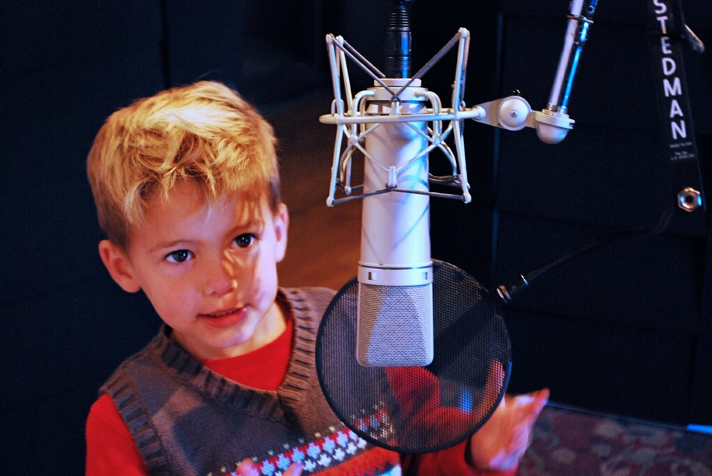 Kellan doing voice over