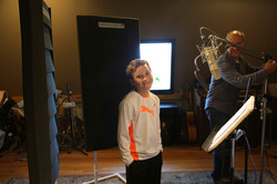 Bo doing voice over for making man k